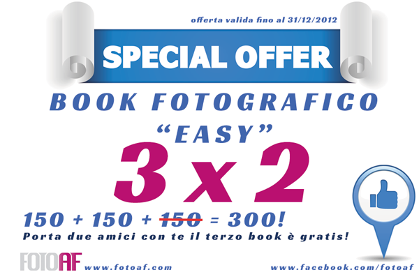 Promozione 3×2 Book Fotografico